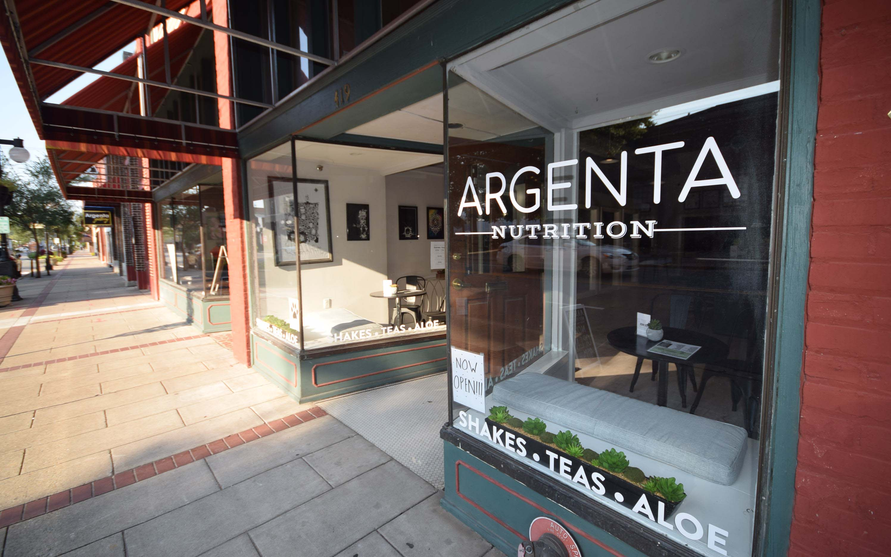 Argenta Nutrition, one of the new tenants at 419 Main Street is now open for business.