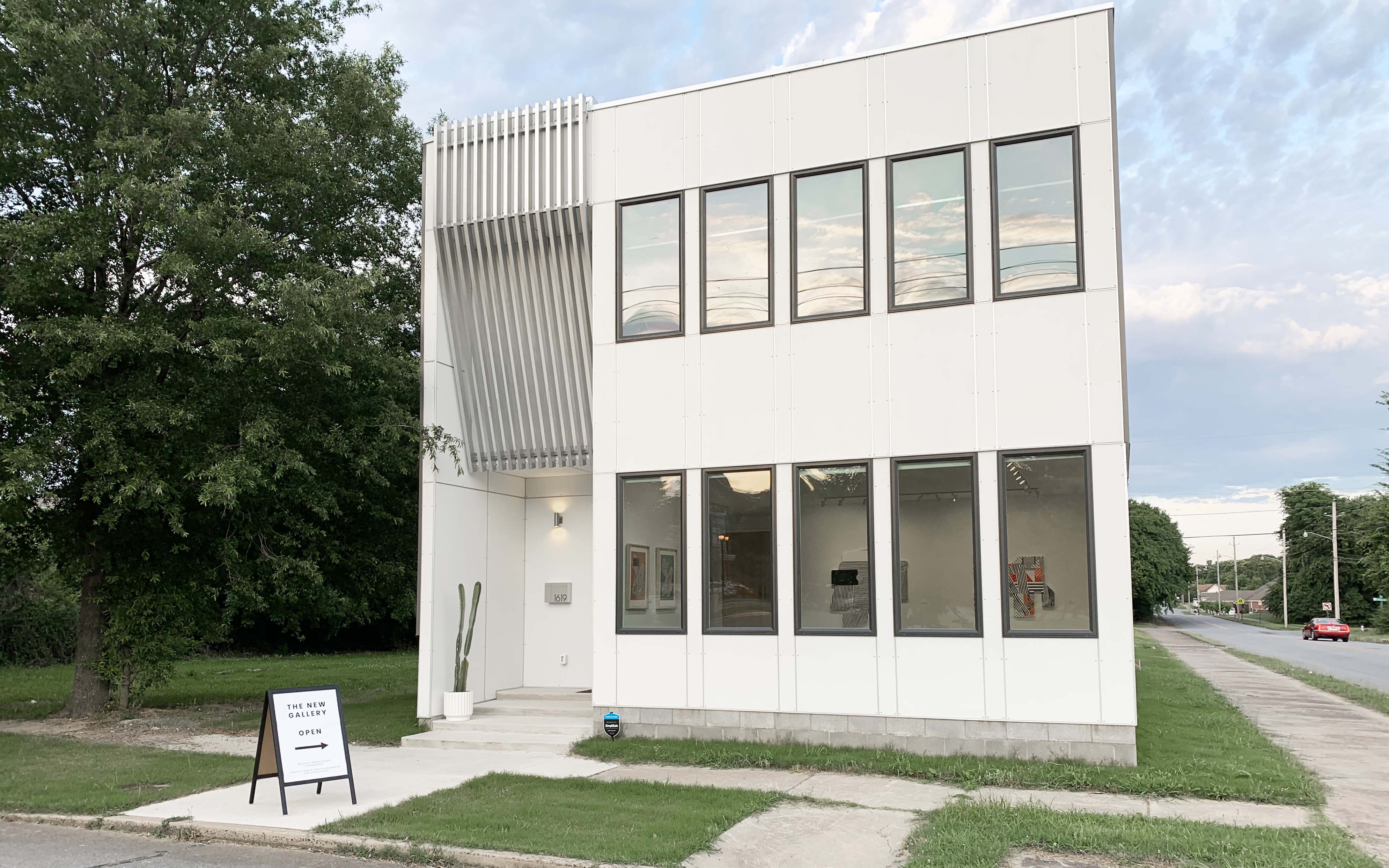 Exterior of The New Gallery in the SOMA neighborhood of Little Rock.