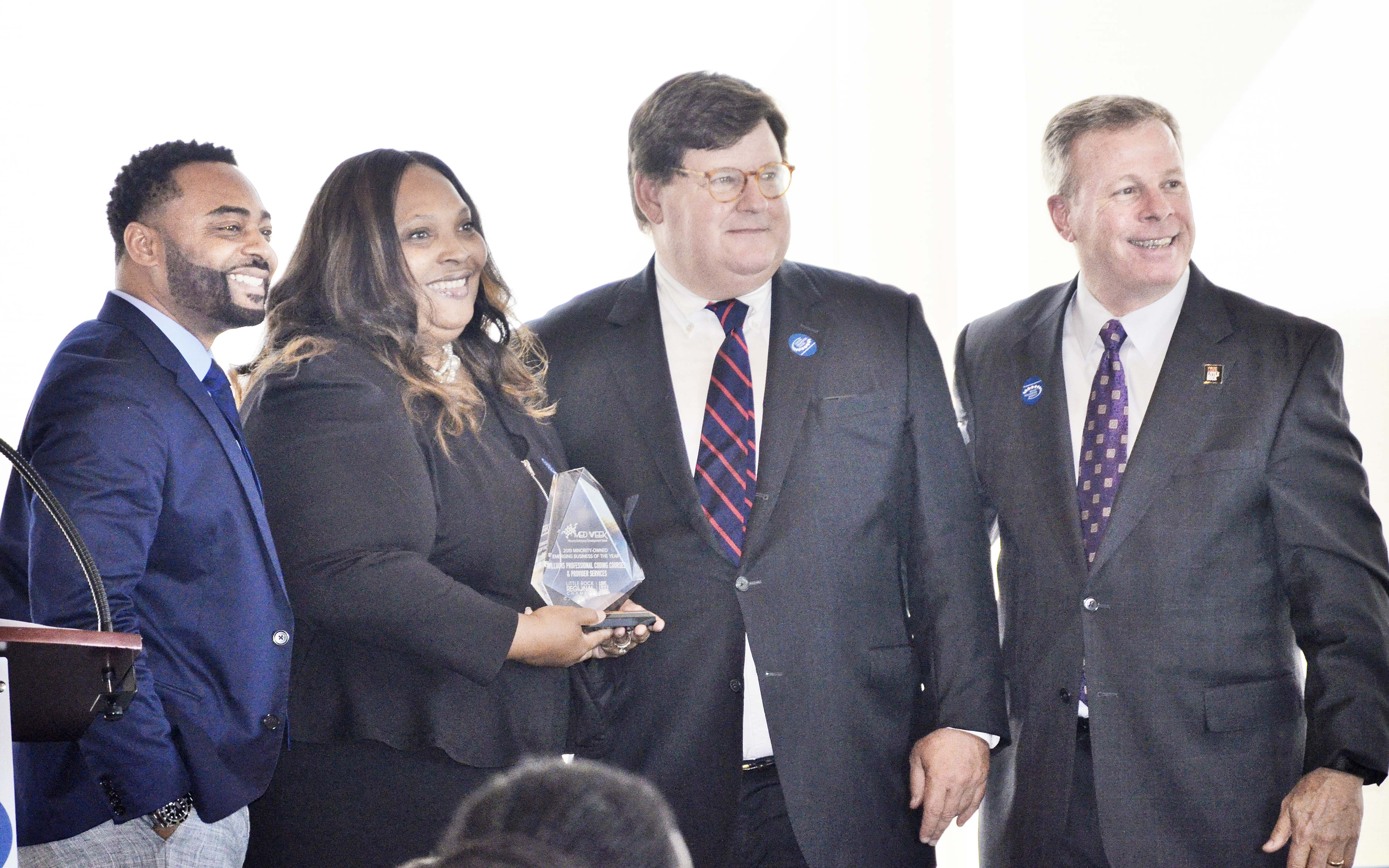 Owner Vickie Williams of Williams Professional Coding Courses & Provider Services was presented with the Emerging Minority Business of the Year award.