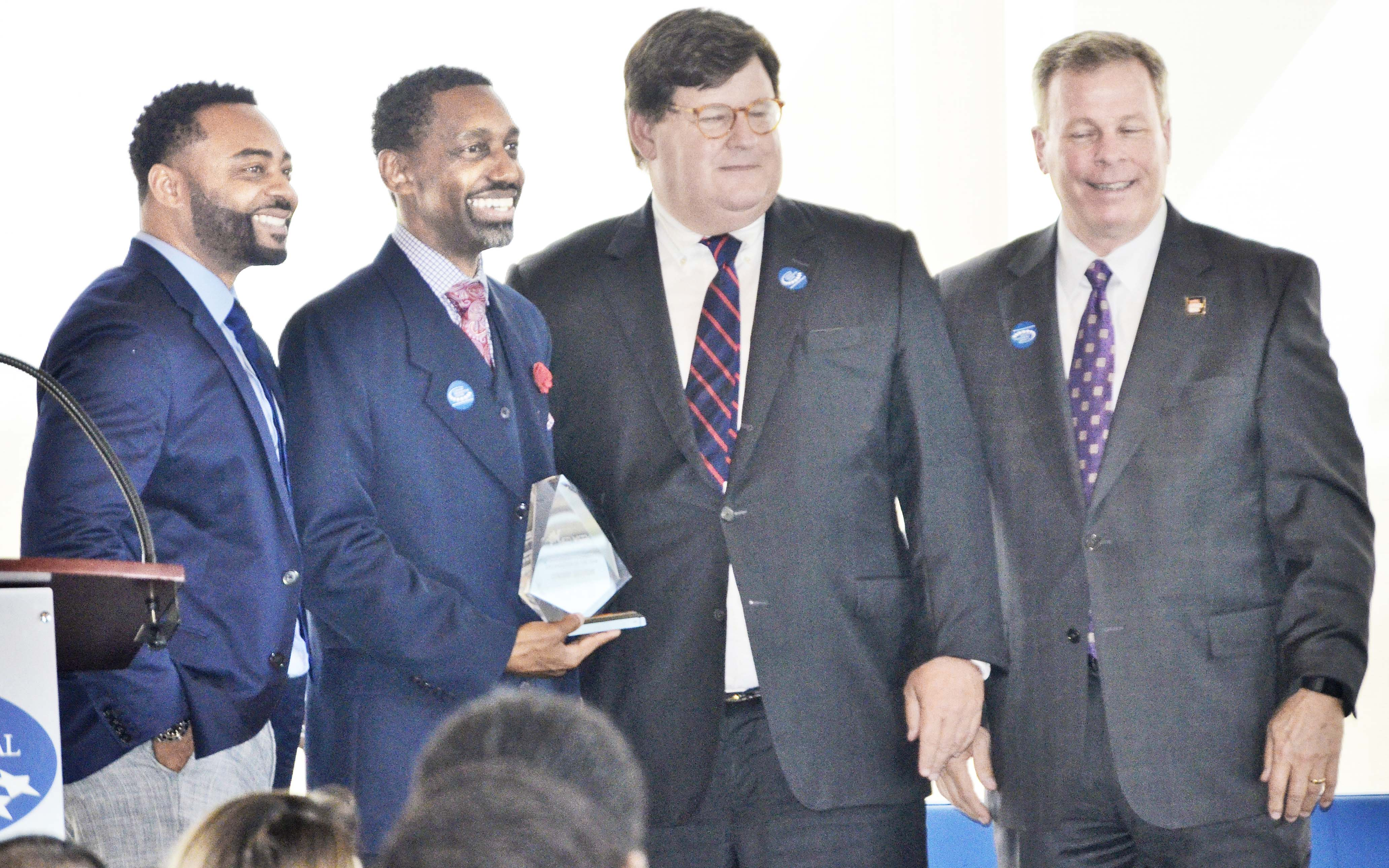 Owner Larry Freeman of Synergy Saturday was presented with the Minority Support Organization of the Year award.